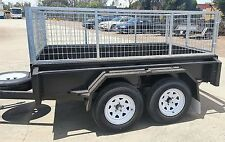 8X5 TANDEM TRAILER WITH CAGE AND COVER