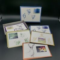 1994 Walt Disney Gallery Bambi Sketches 19 Notecards and Envelopes in Box RARE!