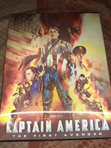 Captain America The First Avenger Blufans Lenticular Edition Steelbook Comme...