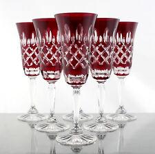 Römer Bleikristall Sekt Gläser 6 St.(1515 RU) Rubin Rot, handgeschliffen 24%PbO