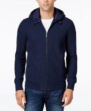 Michael Kors Mens Quilted Drawstring Hoodie JacketDark Blue Medium New $195
