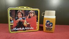 Vintage Mork And Mindy Lunchbox 1979 Tv Metal with Thermos Rare