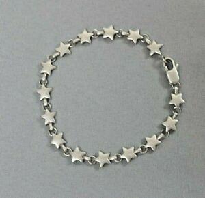 "Tiffany & Co. Sterling Silver Star Links 7 1/2"" Bracelet  WT 13.3g"
