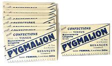 Lot de 11 buvards publicitaires épais Confections tissus PYGMALION Besançon