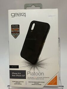 Gear4 Platoon D3O Case 6 Meter Drop Tested for Apple iPhone X / XS(Black)