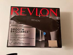 Revlon Smooth Brilliance 1875W Hair Blow Dryer w/ Ion Technology OPEN BOX