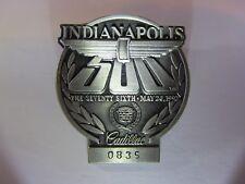 1992 INDIANAPOLIS 500 SILVER BADGE AL UNSER JR WIN CADILLAC RACE INDY CAR bronze