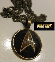 Star Trek Command pendant Original logo Antique Bronze color Collectible gift US