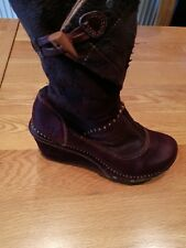 Womens Leather Art Boots size 4 (brown)