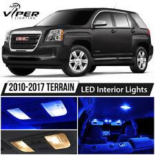 2010-2017 GMC Terrain Blue Interior LED Lights Package Kit + License Lights