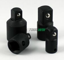 """4 pc 1/2"""" to 3/8"""" 1/4 inch Drive Socket Adapter Reducer Air Impact Set"""