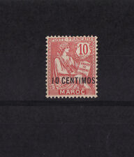 Maroc  colonie Francaise  Mouchon   10c  rose   num: 12   neuf  *