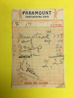 LEO MC CAREY  > (Movie Director) 1950 Signed Paramount cafe Meal Ticket  RARE !