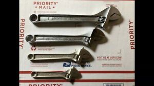 Crescent, Proto Adjustable Wrench Set. 4pc 6, 8, 10, & 12 Inch