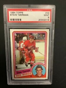 1984 Topps Steve Yzerman Rookie PSA 9 #49 HOF MINT Detroit Red Wings RC