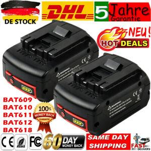 2X 6Ah Für Bosch Ersatzakku GBA GSR GSB 18 Volt BAT618 BAT609 BAT620 LED-Anzeige