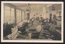 Postcard ATLANTIC CITY New Jersey/NJ Colton Manor Sun Deck Wicker Furniture 30's