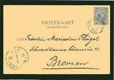 Netherlands 1898 Old Card Postal Stationery to Bremen (Germany) VF