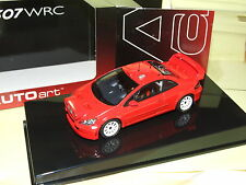 PEUGEOT 307 WRC PLAIN BODY VERSION ROUGE AUTOART 1/43