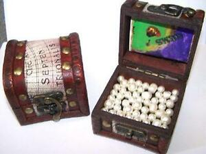 6 ASST TREASURE PIRATE CHEST pirates party item jewels novelty coins gold NEW