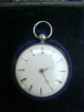 Lownds London British Antique Georgian Elegant Silver Pocket Watch