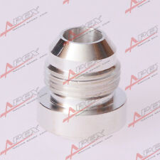 AN-4 ( AN4 -4AN ) Male Aluminum Weld Plug Fitting Round Base Silver