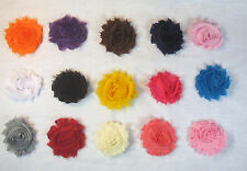 Lot of 4 Shabby Flowers Roses Hair Bows on Clips & 1 Headband UPICK 43 Colors