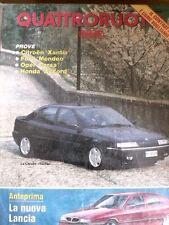 Quattroruote 451 1993 La nuova Lancia Thema - Test Citroen Xantia - Opel C [Q53]