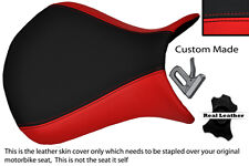 RED & BLACK CUSTOM 07-08 FITS KAWASAKI NINJA ZX6R FRONT LEATHER SEAT COVER