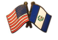 Guatemala Friendship with US Flag Lapel Badge Pin