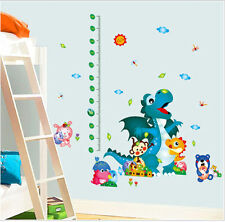 Kids Wall Sticker Dinosaur Park Growth Chart Decal Mural Nursery Home Decor
