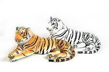 Grand Tigre Blanc en peluche  135 cm  allongé de Qualité   Très doux et Réaliste
