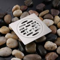 New Bathroom SUS 304 Stainless steel Floor Drain Shower Drainer Brushed Nickel