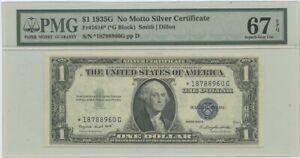 1935G $1 Silver Cert FR#1616* PMG 67 Superb Gem EPQ N/M Star