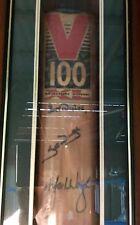 Steve And Mark Waugh Signed Framed Slazenger Bat Australian Cricket Test