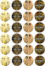 1920's Gatsby Flapper Girls Theme Edible Cupcake Cake Wafer Toppers x 24