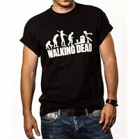 evolución de Men The Walking Dead Camiseta Inspiración (estampado blanco)