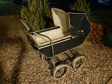 Mid Century Babyhood Wonda pram, carrage, stroller, bassinet, Navy Blue Antique