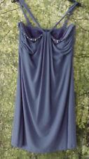 GUESS By Marciano Damen Kleid 46 38 40 Polyester Elasthan blau Perlen
