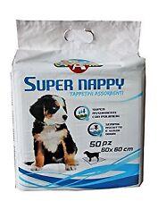 Super Nappy Welpenteppich, Welpenunterlage, 50 Stück Vorratspack (60 x 60 cm)