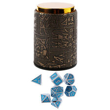 7PCS Metal Polyhedral Dice D4-D20 for Dungeons and Dragons Game&Dice Cup #C