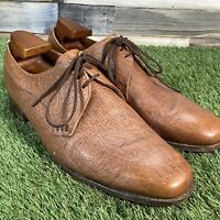 UK10 Vintage LOAKE Tan Derby Dress Shoes - Oxford Smart Wedding Formal - EU44