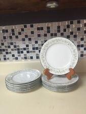 """Set Of 12 Noritake Savannah 2031 8.25"""" Salad Plates"""