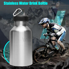 2l Stainless Steel Large Mouth Water Drink Bottle Kettle Cycling Sports Silver