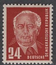 DDR, 1950, MiNr 252 b 'braunorange', postfrisch, rundum vollzähnig, geprüft