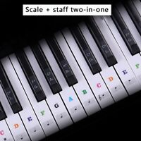 Removable Piano Keyboard Stickers Transparent Piano Sticker 37/49/54/61/88 Keys
