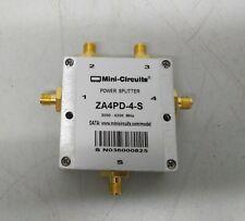 Power Splitter, Mini-Circuit ZA4PD-4-S+, 2000 - 4200 MHz, 50Ω 4 Ways DC Pass