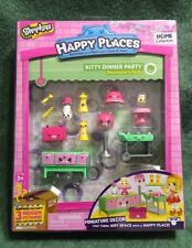Shopkins Happy Places Kitty Dinner Party Decorator's pack, new and sealed.