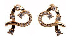 Earrings Gold Plated Authentic 7106Ga Swarovski Elements Crystal Heart Pierced
