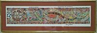 """Framed Danny Eastwood Painting Rainbow Serpent Art Wall Hanging 8"""" x 26"""""""